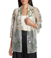 tahari asl embroidered jacket & camisole top