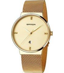 orologio da uomo per orologio da uomo in acciaio con quadrante arrotondato di digi