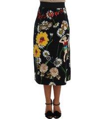 embellished daisy brocade rok