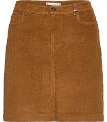 corduroy mini skirt kort kjol beige tommy hilfiger