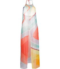 missoni mare colour block lightweight dress - red