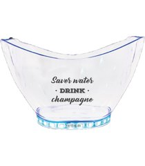 champanheira com led personalizada save water - incolor - dafiti