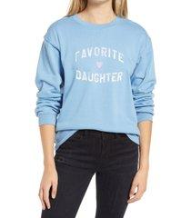 women's sub urban riot favorite daughter graphic sweatshirt, size small - blue