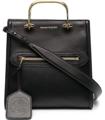 alexander mcqueen the short story tote bag - black