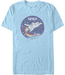nasa men's cloud burst logo short sleeve t-shirt