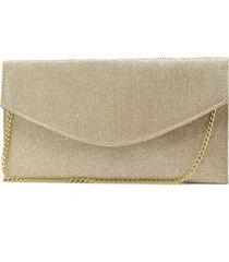 bolsa de festa hendy bag envelope glitter dourado - kanui