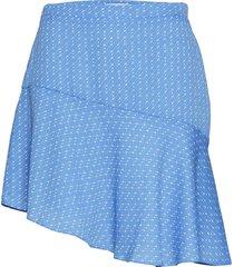 lantana short skirt aop 6891 kort kjol blå samsøe samsøe