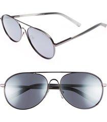 men's ted baker london 59mm aviator sunglasses - dark gunmetal