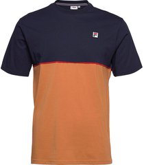 men haverd tee t-shirts short-sleeved multi/mönstrad fila