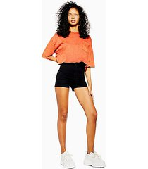 black denim joni shorts - black