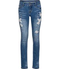 jeans ricamato (blu) - rainbow
