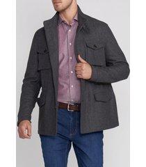 chaqueta de lana gris trial