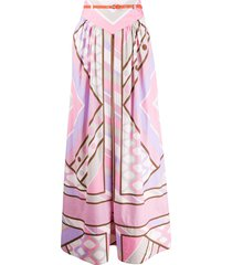 emilio pucci belted pleated skirt - pink