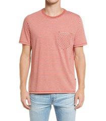 men's billy reid stripe pocket t-shirt, size xx-large - red
