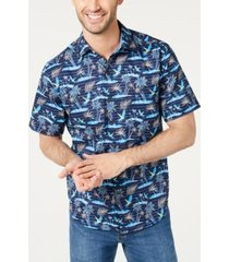tommy bahama men's big & tall isle of palms regular-fit stretch hawaiian camp shirt