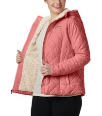 columbia women's copper crest hooded fleece-lined jacket