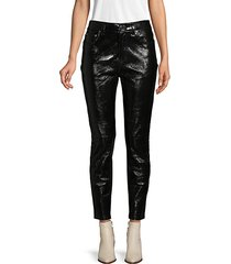buttoned leather pants