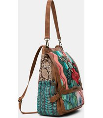 backpack floral sequins - red - u