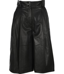dolce & gabbana high-waisted leather culottes