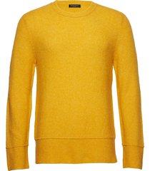 chris crew neck gebreide trui met ronde kraag geel bruuns bazaar