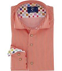oranje overhemd r2 strepen
