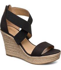 prue wedge sandalette med klack espadrilles svart michael kors shoes