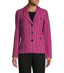 oxford medallion knit jacket
