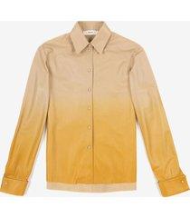 degradé leather shirt orange 40
