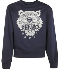 kenzo stitched tiger crewneck sweatshirt
