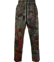 vivienne westwood all-over print trousers - grey