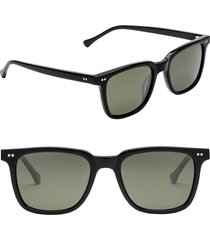 electric birch 53mm polarized square sunglasses in gloss black/grey at nordstrom