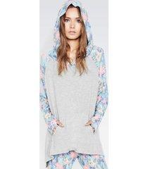 denzel oversized hoodie - m/l heather grey paradise