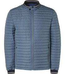 no excess jacket, short fit, dull nylon, fake steel
