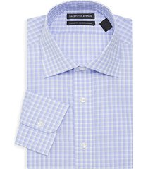 classic-fit plaid dress shirt