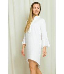 sukienka koszulowa ze stójką