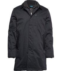 twill coat w detachable collar parka jas zwart lindbergh
