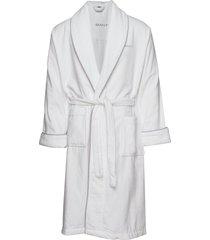 premium velour robe ochtendjas badjas wit gant