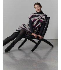natori le tigre-angkor poncho sweater topper jacket, women's, silk, size l