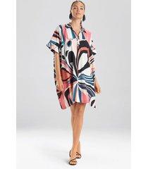 natori papillon caftan dress, women's, pink, size xl natori