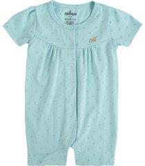 pijama bebê milon poá verde