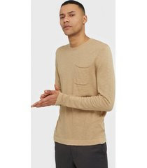 only & sons onscost 12 pocket crew neck knit tröjor ljus brun