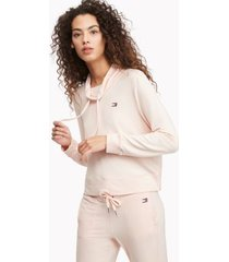 tommy hilfiger women's essential cowl neck sweatshirt blush - l