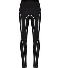 1017 alyx 9sm reflective trim mesh leggings - black