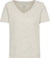 100% organic cotton vintage v-neck t-shirt t-shirts & tops short-sleeved grå gap