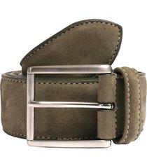 anderson's belts suede belt - khaki a0971-af3751-04v4