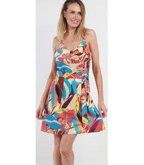 mini vestido estampado jamaica cream night concept