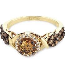 chocolatier 14k honey gold solitaire ring