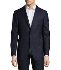 graphic wool blazer