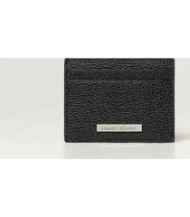 armani collezioni armani exchange wallet armani exchange credit card holder in textured leather