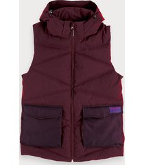 scotch & soda doorgestikte bodywarmer